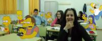 Los Simpson entran en el aula de Matemáticas